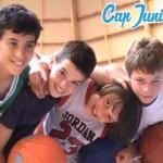 4 joueurs à l'entraînement d'un stage de basket capjuniors.com